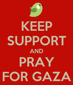 Poster: KEEP SUPPORT AND PRAY FOR GAZA