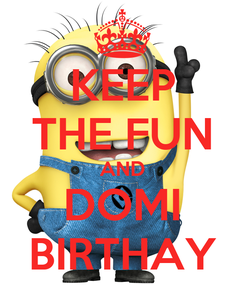 Poster: KEEP THE FUN AND DOMI BIRTHAY