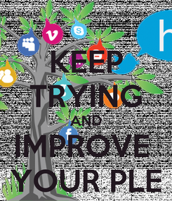Poster: KEEP TRYING AND IMPROVE  YOUR PLE