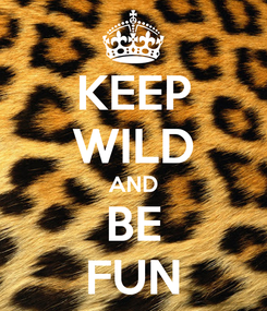 Poster: KEEP WILD AND BE FUN