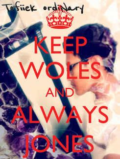 Poster: KEEP WOLES AND ALWAYS JONES