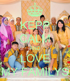 Poster: KEPP CALM AND LOVE MY FAMILYS