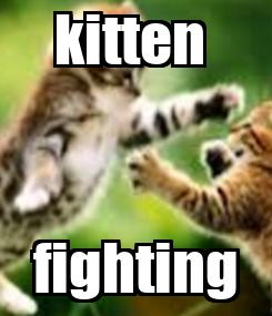 Poster: kitten  fighting