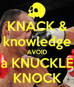 Poster: KNACK & knowledge AVOID a KNUCKLE KNOCK