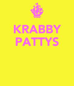Poster: KRABBY PATTYS