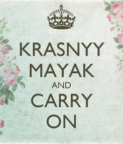 Poster: KRASNYY MAYAK AND CARRY ON