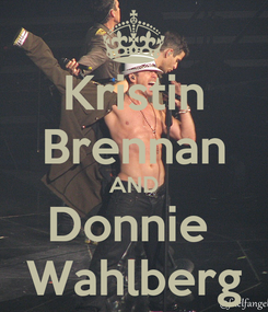 Poster: Kristin Brennan AND Donnie  Wahlberg