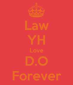 Poster: Law YH Love D.O Forever