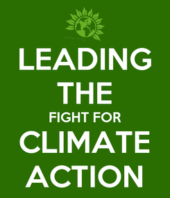 Poster: LEADING THE FIGHT FOR CLIMATE ACTION
