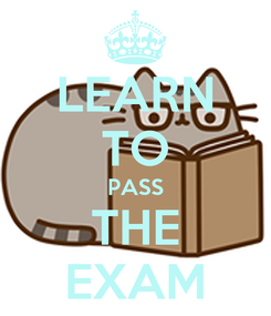 Poster: LEARN TO PASS THE EXAM
