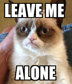 Poster: LEAVE ME  ALONE