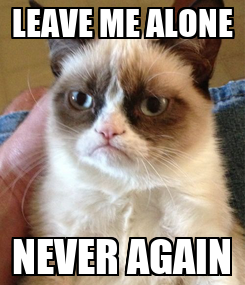 Poster: LEAVE ME ALONE NEVER AGAIN