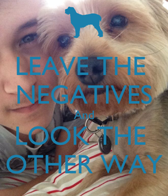 Poster: LEAVE THE  NEGATIVES And LOOK THE  OTHER WAY