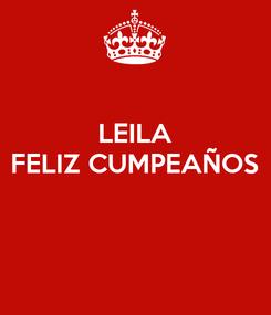 Poster: LEILA FELIZ CUMPEAÑOS