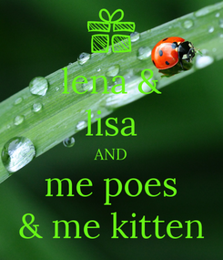 Poster: lena & lisa AND me poes & me kitten