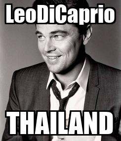 Poster: LeoDiCaprio THAILAND