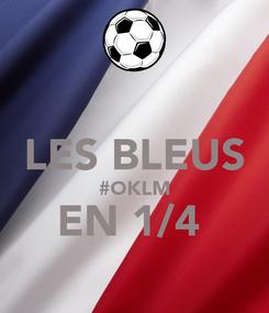 Poster:  LES BLEUS #OKLM EN 1/4