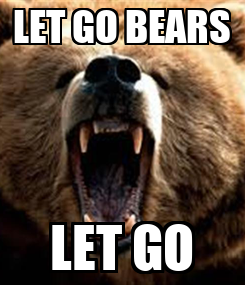 Poster: LET GO BEARS LET GO