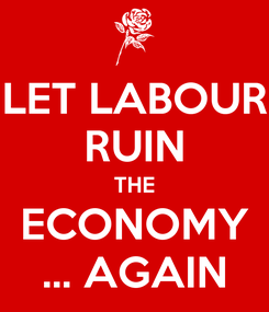 Poster: LET LABOUR RUIN THE ECONOMY ... AGAIN