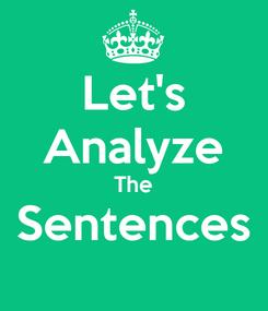 Poster: Let's Analyze The Sentences