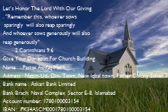 """Poster: Let's Honor The Lord With Our Giving. . """"Remember this, whoever sows  sparingly  will also reap sparingly And whoever sows generously will also  reap generously"""""""