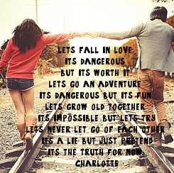 Poster: lets fall in love. 