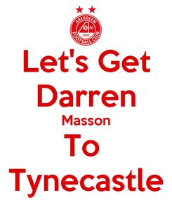 Poster: Let's Get Darren Masson To  Tynecastle