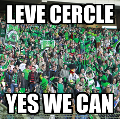 Poster: LEVE CERCLE YES WE CAN
