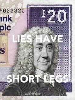 Poster: LIES HAVE    SHORT LEGS
