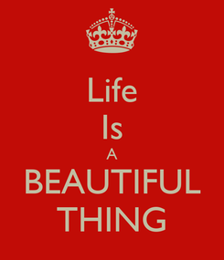 Poster: Life Is A BEAUTIFUL THING