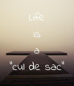 """Poster: Life is a """"cul de sac"""""""