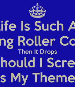 Poster: Life Is Such A  Fucking Roller Coaster Then It Drops What Should I Scream For This Is My Theme Park