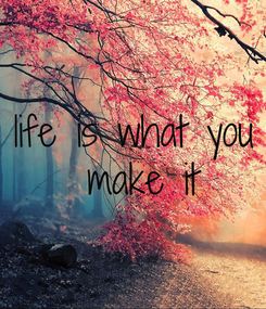 Poster: life is what you  make it