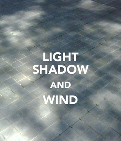 Poster: LIGHT SHADOW AND WIND