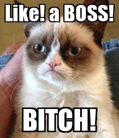 Poster: Like! a BOSS! BITCH!