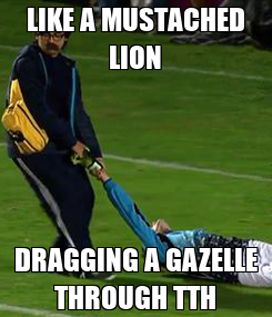 Poster: LIKE A MUSTACHED LION DRAGGING A GAZELLE THROUGH TTH
