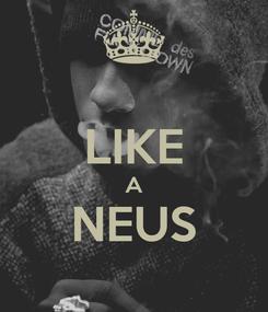 Poster:  LIKE A NEUS