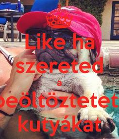 Poster: Like ha szereted a beöltöztetett kutyákat