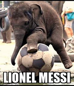 Poster:  LIONEL MESSI