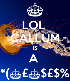 Poster: LOL  CALLUM IS A  *(^£^$£$%