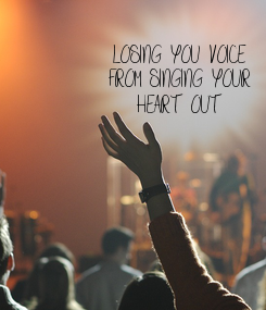 Poster: LOSING YOU VOICE FROM SINGING YOUR HEART OUT