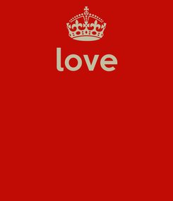 Poster: love