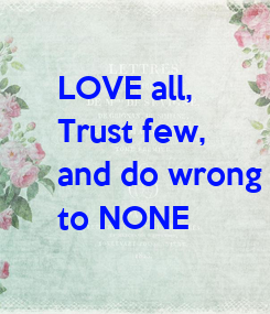 Poster: LOVE all,