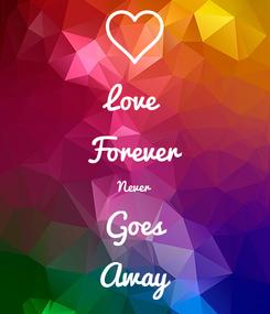 Poster: Love Forever Never  Goes  Away