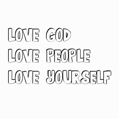 Poster: LOVE GOD. 