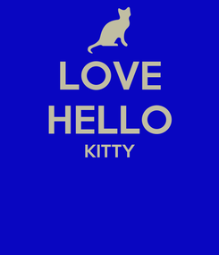 Poster: LOVE HELLO KITTY