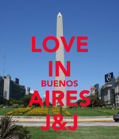 Poster: LOVE IN BUENOS AIRES J&J