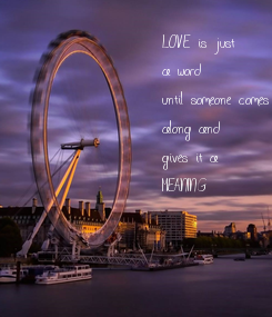 Poster: LOVE is just