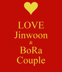 Poster: LOVE Jinwoon & BoRa Couple