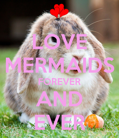Poster: LOVE MERMAIDS FOREVER AND EVER